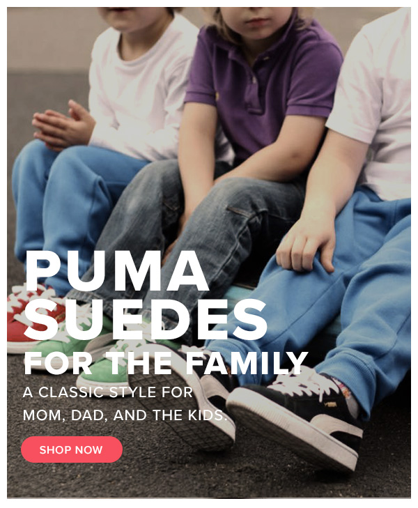 Puma Suedes For The Family